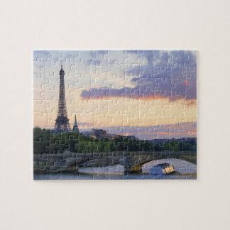 France,Paris,tour boat on River Seine,Eiffel Jigsaw Puzzle