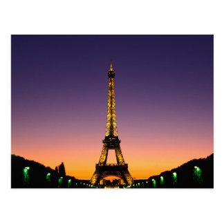 France, Paris, Tour Eiffel at sunset. Postcard