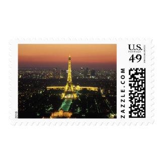 France, Paris, Tour Eiffel, Trocadero and Ecole Stamp