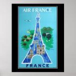 France Paris Travel Vintage poster french