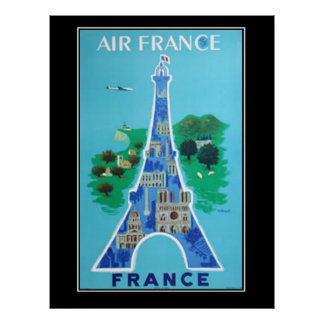 France Paris Travel Vintage poster french Posters