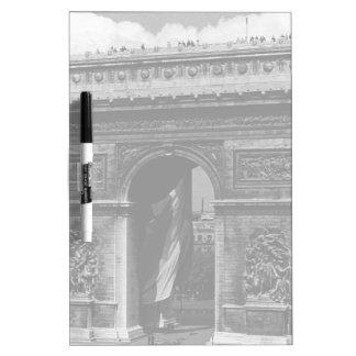 France Paris Triumphal arch Place Etoile 1970 Dry-Erase Whiteboards