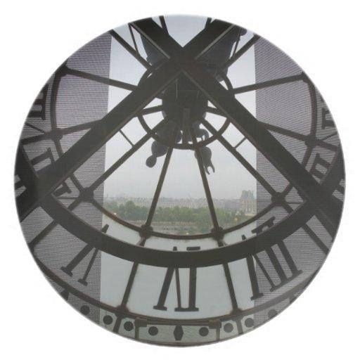 France, Paris. View across Seine River through Plates
