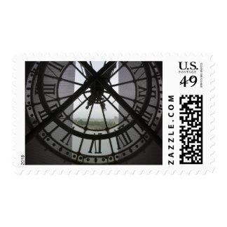France, Paris. View across Seine River through Postage Stamp