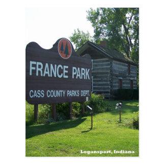France Park Indiana Postcard