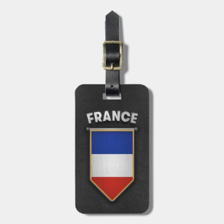France Pennant with high quality leather look Bag Tag