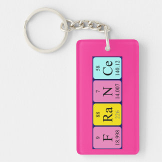 France periodic table name keyring keychain