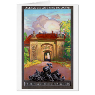 France Phalsbourg Restored Vintage Travel Poster Card