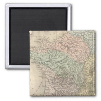 France Physique 2 Inch Square Magnet