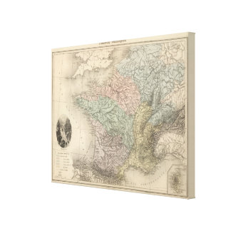 France Physique Canvas Print
