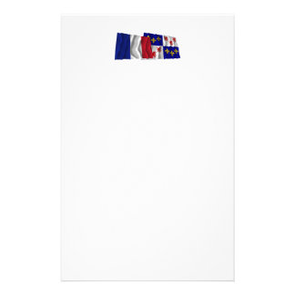 France & Picardie waving flags Stationery