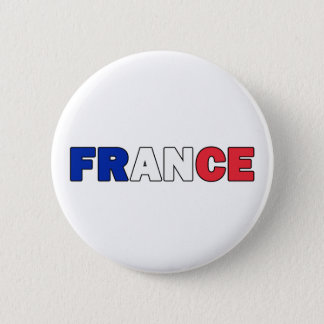 France Pinback Button