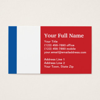 The family french business cards templates zazzle france plain flag business card colourmoves Image collections