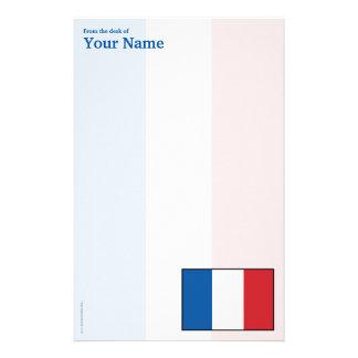 France Plain Flag Stationery