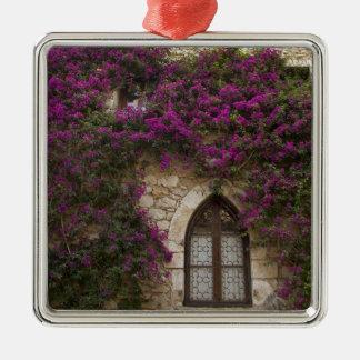 France, Provence, Eze. Bright pink Metal Ornament