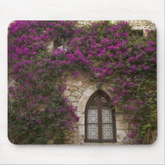France, Provence, Eze. Bright pink Mouse Pad