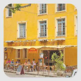 France, Provence, Moustiers-Ste-Marie. Credit Square Sticker