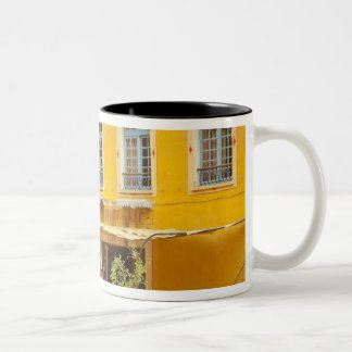 France, Provence, Moustiers-Ste-Marie. Credit Two-Tone Coffee Mug
