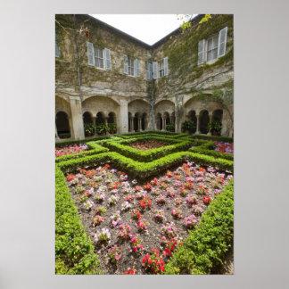 France, Provence, St. Remy-de-Provence. Garden Poster