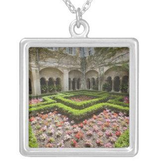 France, Provence, St. Remy-de-Provence. Garden Square Pendant Necklace