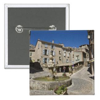 France, Provence, Valensole. Tourists explore Pinback Button