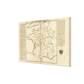 France, Providences and Boundaries Stretched Canvas Prints