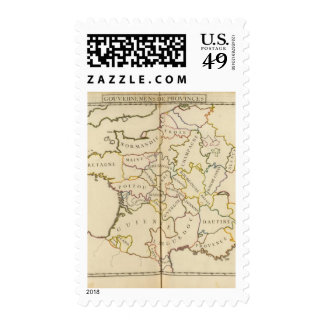 France, Providences and Boundaries Postage Stamp