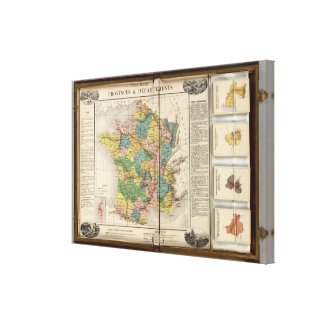 France Provinces and Departments Canvas Print
