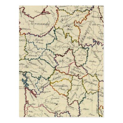 France provinces postcard