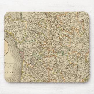 France Provincial Boundaries Mouse Pad
