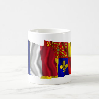 France & Pyrénées-Atlantiques waving flags Coffee Mug