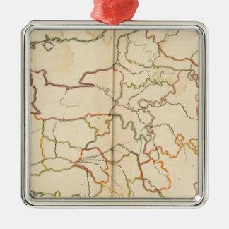 France Reivers Outline Metal Ornament