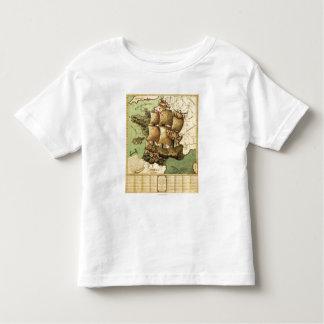 France Represented as a ShipPanoramic Map Toddler T-shirt