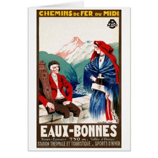 France Restored Vintage Travel Poster Card