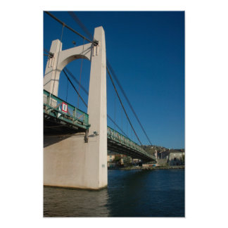 France, Rhone-Alps, Condrieu, bridge across Poster