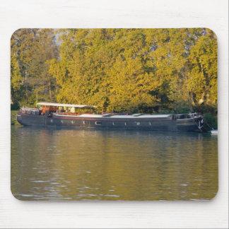 France, Rhone River, near Avignon, barge along Mouse Pad