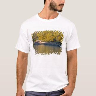 France, Rhone River, near Avignon, barge along T-Shirt