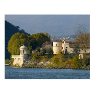 France, Rhone River, town near Vienne 2 Postcard