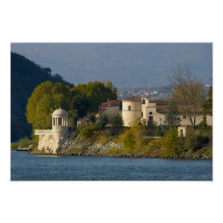 France, Rhone River, town near Vienne 2 Poster