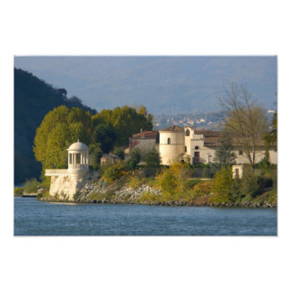 France, Rhone River, town near Vienne Photo Print