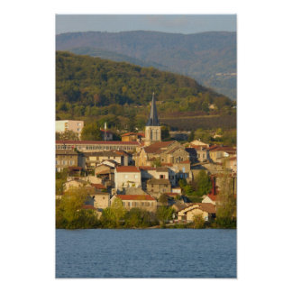 France, Rhone River, town near Vienne Poster
