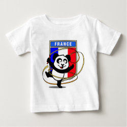 Baby Fine Jersey T-Shirt with French Rhythmic Gymnastics Panda design