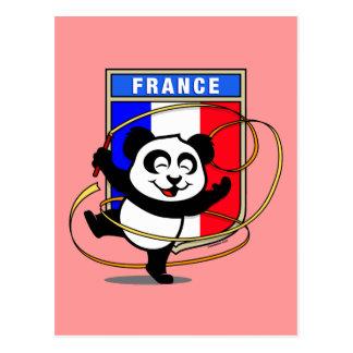 France Rhythmic Gymnastics Panda Postcard