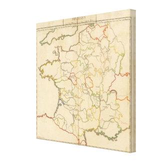 France Rivers Canvas Print