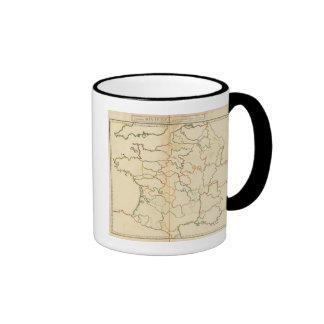 France Rivers Outline Coffee Mugs