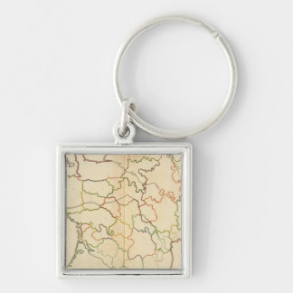 France Rivers Outline Key Chain