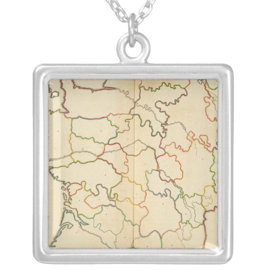 France Rivers Outline Silver Plated Necklace