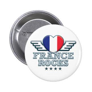France Rocks v2 2 Inch Round Button