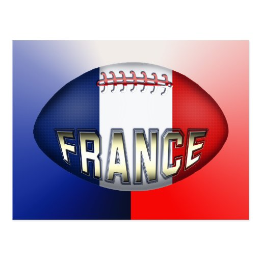 France Rugby Ball Post Cards