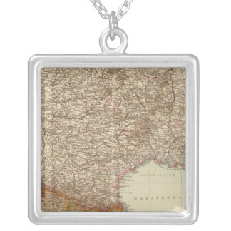 France S, Corsica Square Pendant Necklace
